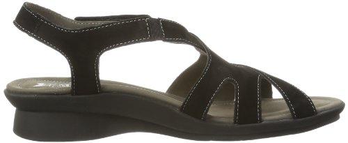 Mephisto  PARCELA BUCKSOFT 6900 BLACK, chaussures compensées femme Noir - Schwarz (BLACK BUCKSOFT 6900)