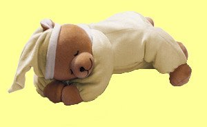 Babi 0145Age Einschlafbär Schneemann Teddybär, Vanille