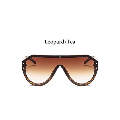 WZYMNTYJ Übergroße Pilot Sonnenbrille Frauen Spiegel Schild Frauen Sonnenbrille Sonnenbrille Männer Uv400 Unisex