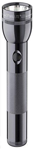 Mag-Lite ST2D096 - Linterna LED (114 lúmenes, 25 cm, 2 pilas D), color gris