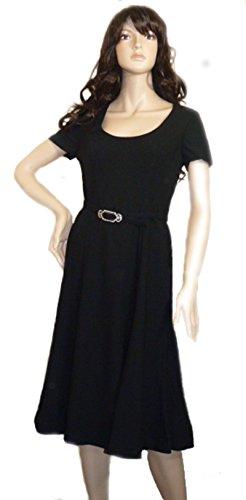 Ralph Lauren Damen Cocktail Kleid schwarz schwarz Gr. 38, schwarz