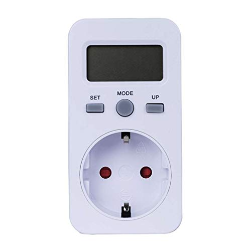 Bodbii LCD Digital Energy Meter Socket Plug-in Power Detector Electric Test Energy Meter W KWH Price Wattmeter (Energie Test)