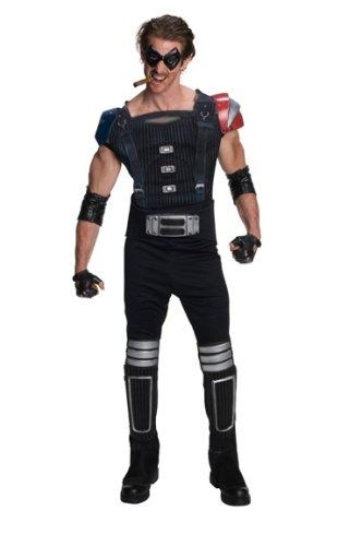 Comedian Watchmen Superheld Kostüm Erwachsene Karneval Verkleidung (Stiefelstulpen Superhelden)