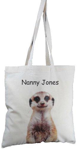 Image of Personalised - Meerkat design - Natural Cotton Shoulder Bag