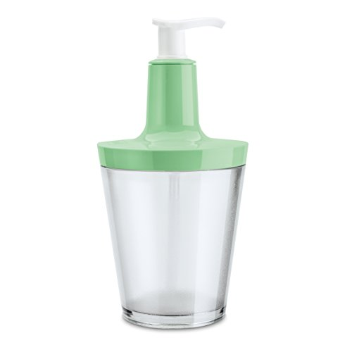 Koziol Flow 0.25L Verde, Transparente - Dispensador de jabón (88 mm, 88 mm, 177 mm)