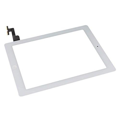 Smartex Pantalla Vidrio Tàctil Digitizer Blanco Compatible con iPad 2- Adhesivo, Boton Home y Toolkit desmontaje incluidos en la confección