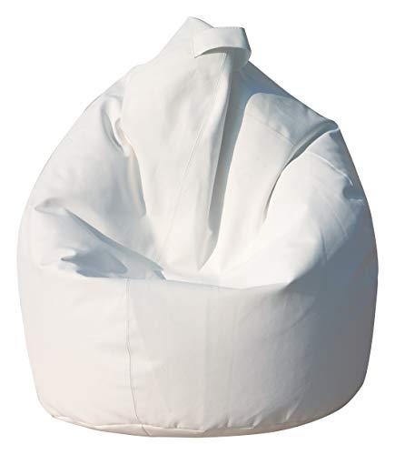 13casa - nylon a10 - poltrona sacco. dim: 80x80x120 h cm. col: bianco. mat: nylon.