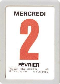 OBERTHUR - 1 Mini-Bloc Calendrier à Effeuiller Ephémérides - année 2018 - 4.7x6.3cm