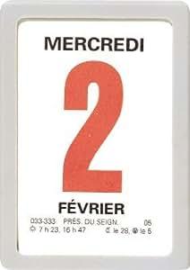 OBERTHUR - 1 Mini-Bloc Calendrier à Effeuiller Ephémérides - année 2017 - 4.7x6.3cm