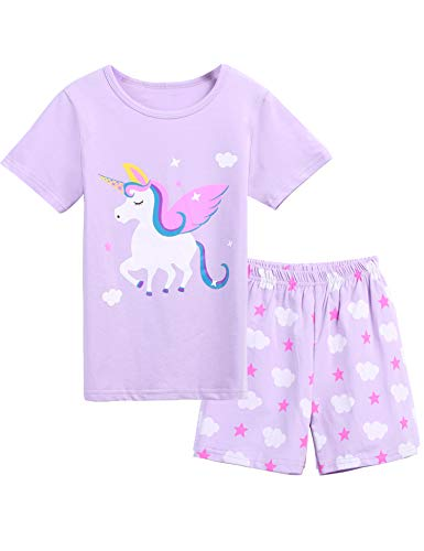 Bricnat Mädchen Schlafanzug Giraffe Drucken Nachtwäsche Baumwolle Kinder Frühling Sommer Bekleidung Pyjama Set Rosa Kurze Ärmel Pyjama Zweiteiliger Schlafanzug Shorty
