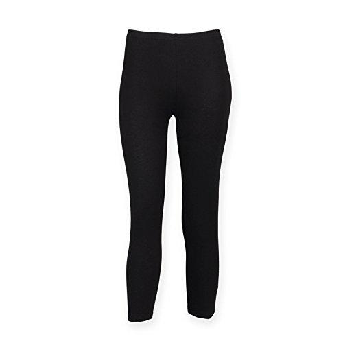 Pantaloni Capri 3/4 Leggings Donna Sport divertimento Training Black