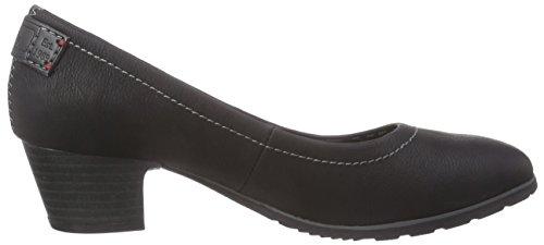 s.Oliver 22301, Chaussures à talons - Avant du pieds couvert femme Noir - Noir