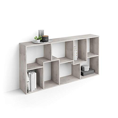 Mobili Fiver, Libreria XS Iacopo (160,8 x 80 cm), Cemento, 28 x 80 x 160,8 cm, Nobilitato, Made in Italy, Disponibile in Vari Colori