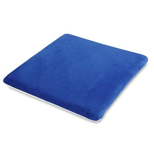 Gel-Sitzkissen atmungsaktiv und klimaregulierend, ergonomische Sitzhaltung, Viskoelastischer Schaumstoff mit Gel-Schicht, Allergiker geeignet, Bezug abnehmbar und waschbar, B 40 × H 4 × T 40 cm