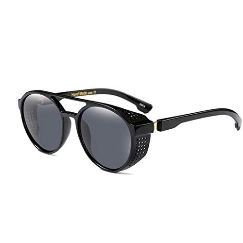 Retro Steampunk Stil Inspiriert Runde Metall-Kreis-Polarisierten Sonnenbrillen Für Frauen-Mann