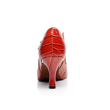 Scarpe da ballo - Non personalizzabile - Donna - Latinoamericano / Salsa - Tacco a rocchetto - Eco-pelle - Altro mahogany