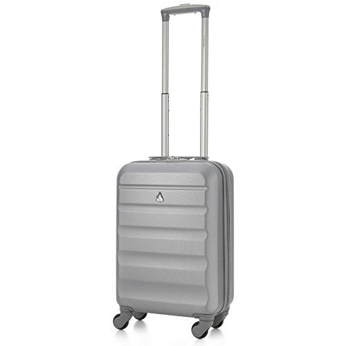 Aerolite Bagaglio a mano, Silver (Argento) - ABS325 Silver 21 Vendor