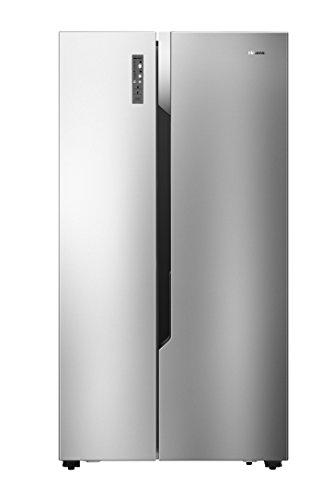Hisense RS670N4BC3 Side-by-Side/178.60 cm/229 kWh/339 L Kühlteil /177 L Gefrierteil/Energieeffiziensklasse A+++/516 L Netto-Nutzinhalt/Edelstahl-Look