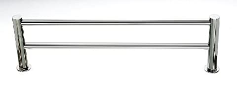 Top Knobs HOP9PN Hopewell Bath 24 Double Towel Bar, Polished Nickel by Top Knobs
