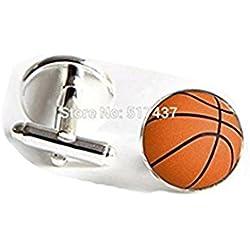 Gemelos de pelotas de baloncesto baloncesto Gemelos 16mm deportes Gemelos regalo para hombres Gemelos de Groomsmen joyas