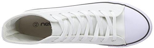 Nebulus Voll-Leder-Evo, Sneakers Hautes Homme Blanc (white)