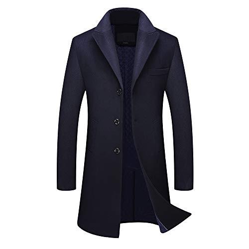 KPILP Herren Warme Winter Trench Revers Woolen Elegante -