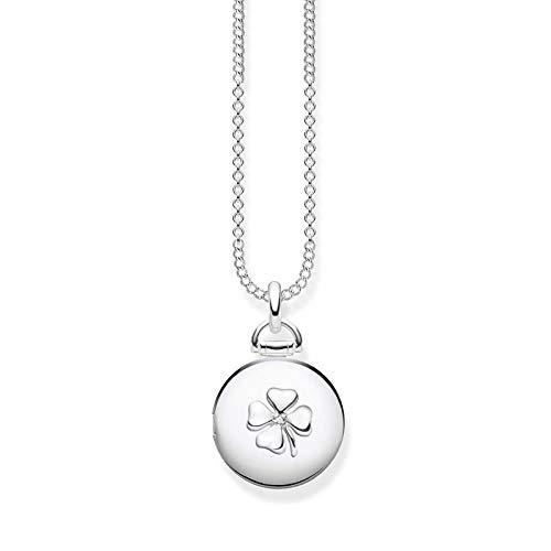Thomas Sabo Damen-Kette Medaillon Kleeblatt rund Glam & Soul 925 Sterling Silber D_KE0038-725-14-L45v