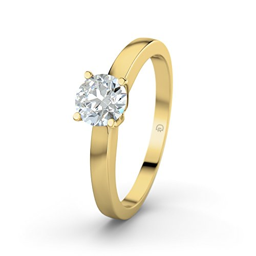 21Diamonds Damen-Ring Arabella 21Premium Verlobungsring Diamant SI2 0.45 ct Brillantschliff, 14 Karat (585) Gelbgold Gr.48 (15.3) Verlobungsringe