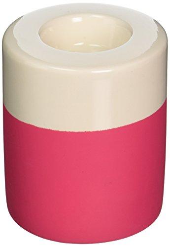 Present Time Petite en céramique Dip-it Sarcelle lumière Support, Gris P, Rose Fluorescent, 8.5cm