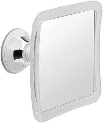 Espejo de ducha y afeitado sin vaho Mirrorvana con base de ventosa, aumento 1X, 6,3 x 6,3 pulgadas
