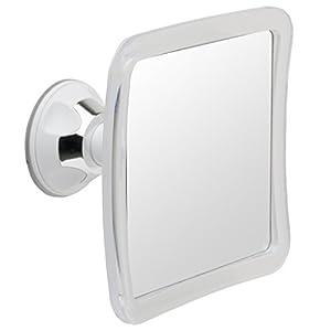 Mirrorvana Duschspiegel mit Saugnapf, Rasierspiegel Dusche – 1-Fach, 16 x 16cm