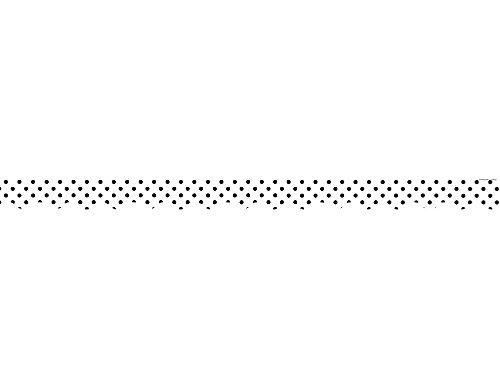 White Border Trim (Teacher Created Resources Black Polka Dots on White Scalloped Border Trim (5593) by Teacher Created Resources)