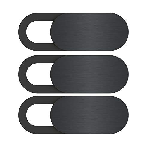 TOOGOO Webcam Abdeckung T3 Verschluss Magnet Slider Kunststoff Universal Kamera Abdeckung Für Handy Web Laptop Ipad Pc Mac Tablet Daten Schutz Aufkleber (3 Stücke) - Ipad Kunststoff-abdeckung Das Für