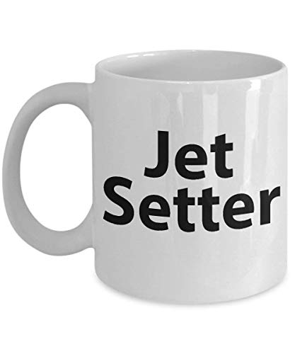 Jet Setter Mug - Funny Ceramic Mug for Coffee and Tea, 11oz and 11oz, Made in The USA (Mule Jet)