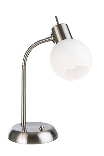 Nino LED Tischleuchte LOXY - Opalglas, Flexarm - Lampe Leuchte Hängelampe Deckenlampe Wohnzimmerlampe (Opalglas-tischleuchte)