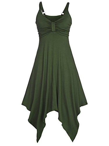 ... Ruiyige Damen Bandeau Kleid A-Linie Sommerkleid Ärmellos Maxikleid  Geblümt Strandkleider Knielang Tuchkleid V ausschnitt ...