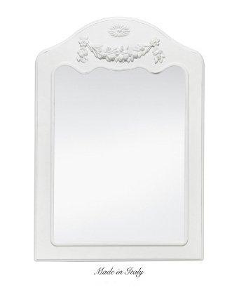 Specchiera di legno con fregio centrale stile vintage disponibile in diverse rifiniture L'ARTE DI NACCHI SP.135M/BG