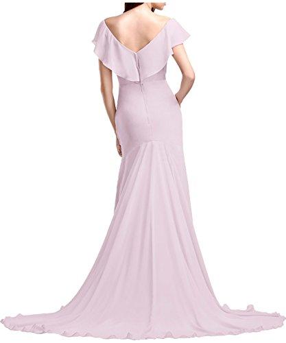 Ivydressing Elegant Neu 2017 Chiffon V-Neck Etui Abendkleider Lang Partykleider Promkleider Golden