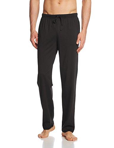 Seidensticker Herren Schlafanzughose Hose lang, Gr. Medium (Herstellergröße: 50), Schwarz (schwarz 000) (Herren Pyjama Hose)