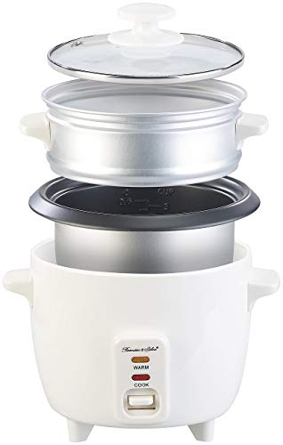 Rosenstein & Söhne Dampf-Garer: Mini-Reiskocher mit Dampfgar-Einsatz & Warmhaltefunktion, 0,5 l, 350 W (Garkochtopf)