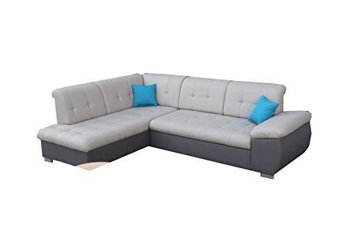 mb-moebel Ecksofa Eckcouch mit Bettkästen mit Schlaffunktion Soft Couch Wohnlandschaft L-Form Polsterecke Chico 2 (Ecksofa Links)