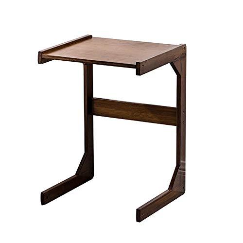 5 IN 1 TABLE XIAOYAN Beistelltisch Bambus Kleine Snack Tisch Laptop Schreibtisch für Home Office Einfache Montage Nussbaum Farbe 5 Größen (größe : L35×W37.5×H58CM) -