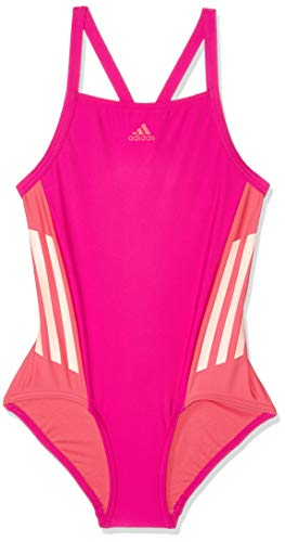 adidas Mädchen Fit 1 Piece Colorblock Badeanzug, Real -