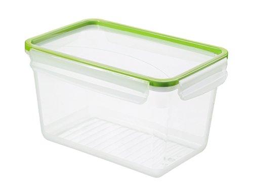 Rotho 1162905518 Frischhaltedose Clic and Lock, Aromafeste Aufbewahrungsbox mit Deckel, Inhalt 3 L, 23,9 x 16 x 13,6 cm, transparent/grün