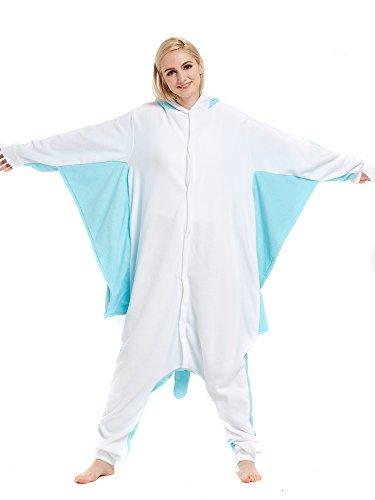 Tier Onesie Blau Flughörnchen Pyjama Kostüme Kigurumi Schlafanzug Erwachsene Unisex Mann Dame Cosplay Jumpsuit (Kostüme Verkauf Für Tier)