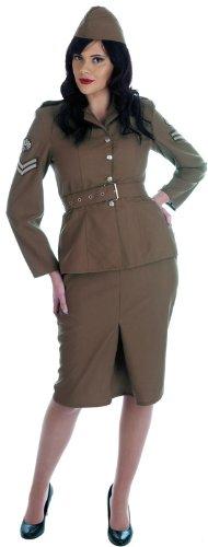 Weltkrieg 2 (WW2) - Armee-Mädchen - erwachsenes Abendkleid-Kostüm -