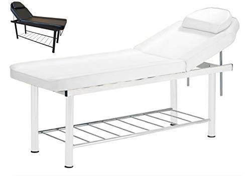 Polironeshop apollo lettino in acciaio per massaggi centro estetico tattoo (bianco)