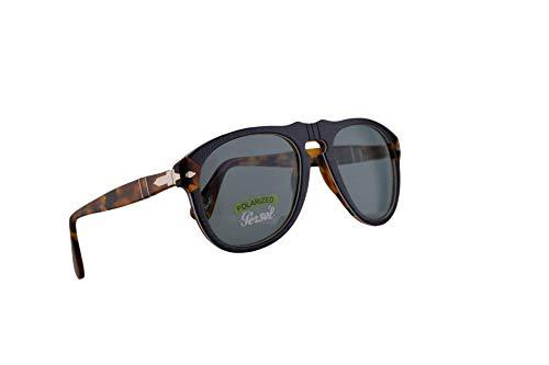Persol 649 Sunglasses P.Galles Blau Mit polarisierten Blauen Gläsern 52mm 10903R PO 0649 PO0649 PO649