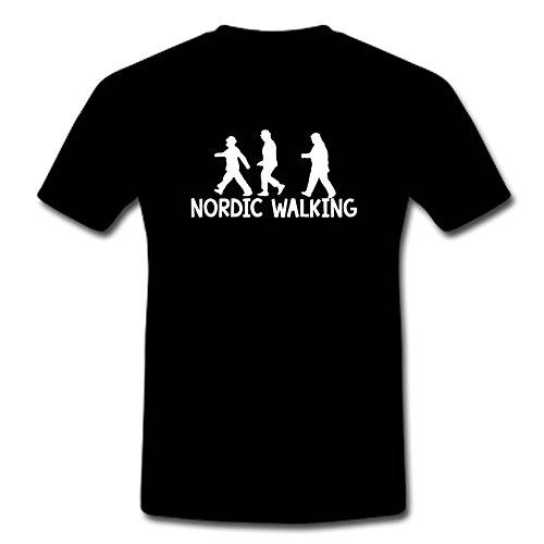 """T-Shirt """"Die Olsenbande-Nordic Walking"""" Schwarz"""