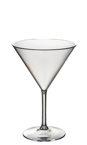 Ensemble de 6 Roltex plastique polycarbonate incassable, cocktail réutilisables/lunettes sucré/martini. Capacité 350ml, hauteur 17,5 cm, diamètre maximal 11.75cm